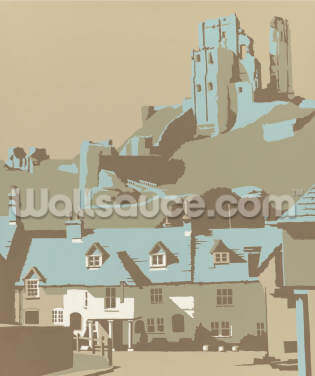 Corfe Castle Wallpaper Wall Murals