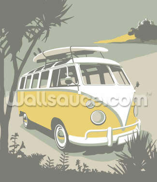Marazion Camper Wallpaper Wall Murals