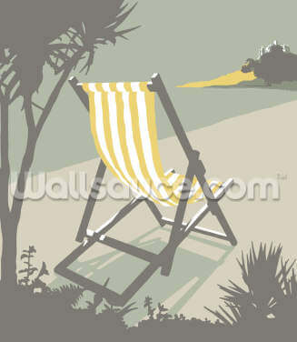Marazion Deckchair Wallpaper Wall Murals