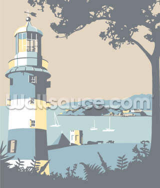Plymouth Lighthouse Wallpaper Wall Murals