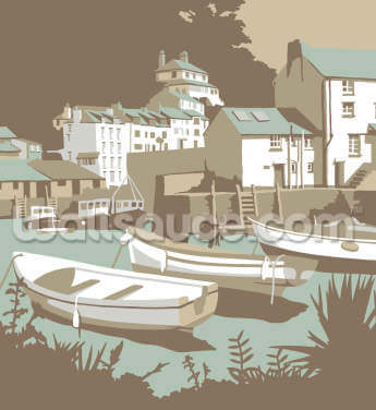 Polperro Wallpaper Wall Murals