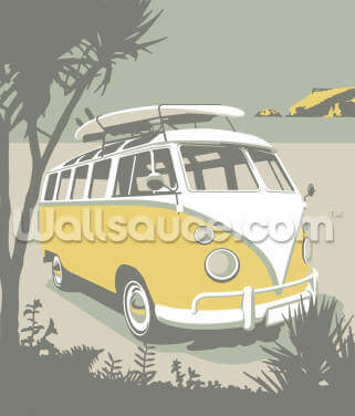 Polzeath Camper Wallpaper Wall Murals