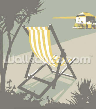 Rock Deckchair Wallpaper Wall Murals