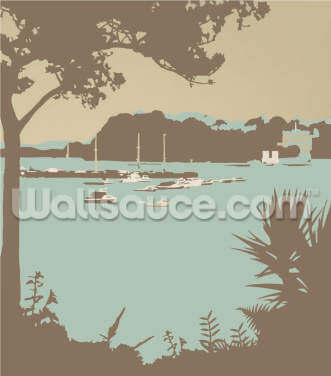 Sandbanks and Brownsea Island Wallpaper Wall Murals