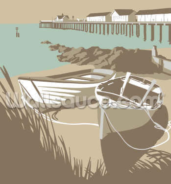 Southwold Boats and Pier Wallpaper Wall Murals