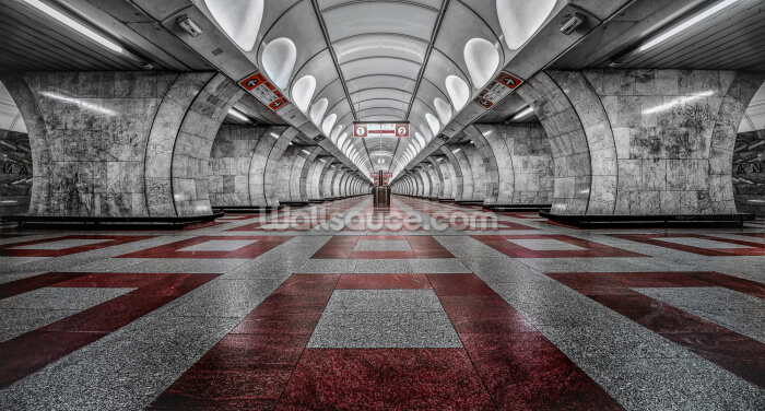 Prague Metro Wallpaper Wall Murals