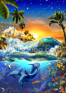 Hawaiian Dawn Wallpaper Wall Murals