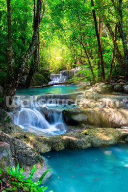 Peaceful Waterfall Wallpaper Wall Murals