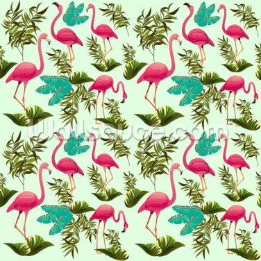 Pink Flamingo Pattern Wallpaper Wall Murals