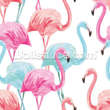Flamingo Watercolour Wallpaper Wall Murals