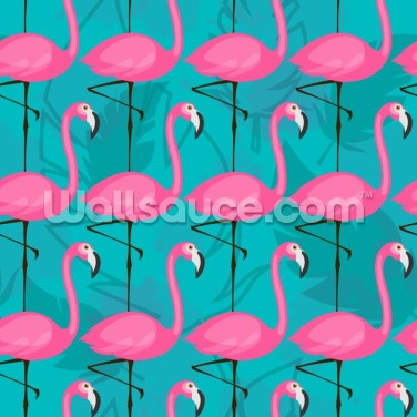 Bright Pink Flamingos Wallpaper Wall Murals