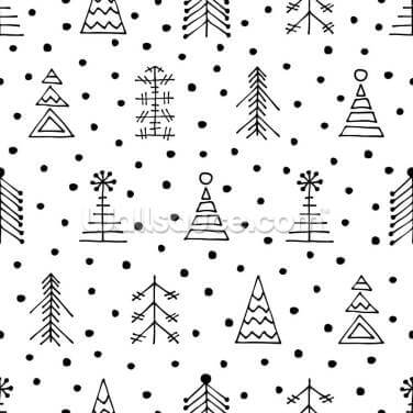 Dotty Christmas Wallpaper Wall Murals