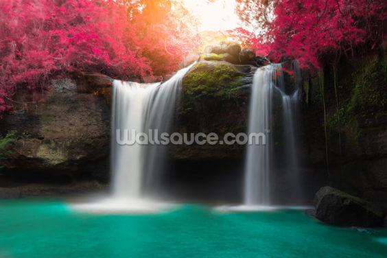 Haew Suwat Waterfall in Khao Yai Wallpaper Wall Murals