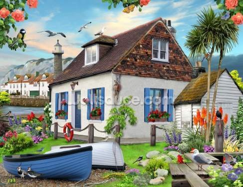 Fishermans cottage Wallpaper Wall Murals