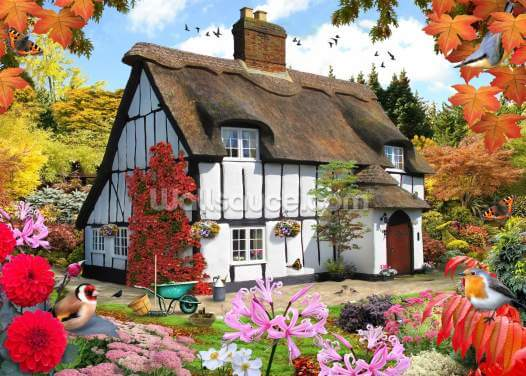 Sedum Cottage Wallpaper Wall Murals