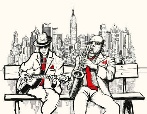 New York Jazz Wallpaper Wall Murals