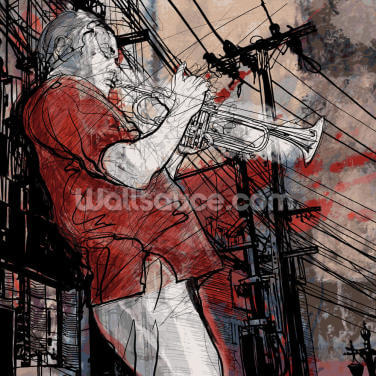 Jazz Trumpet Wallpaper Wall Murals
