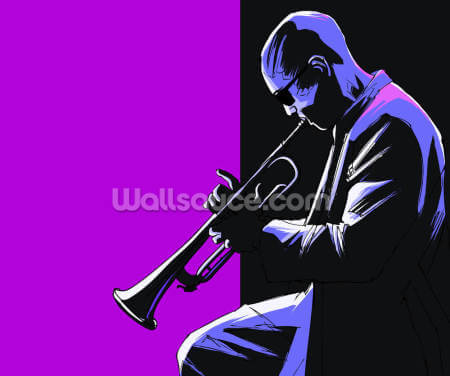 Blues Musician Wallpaper Wall Murals