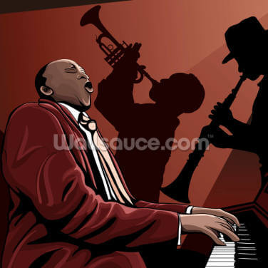 Jazz Band Pianist Wallpaper Wall Murals