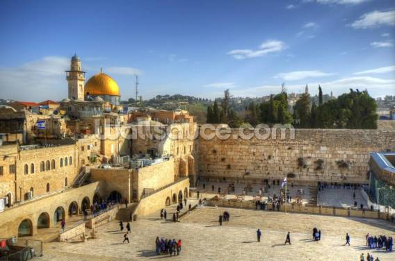 The Wailing Wall and Dome of the Rock, Jerusalem Wallpaper Wall Murals