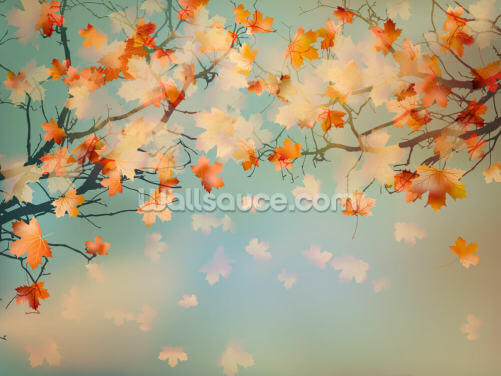 Autumn Leaves Wallpaper Wall Murals