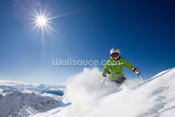 Ski The Mountains Wallpaper Wall Murals