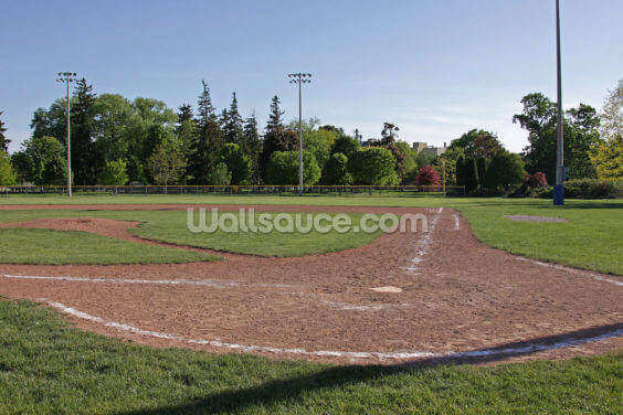 Baseball Field at Dusk Wallpaper Wall Murals