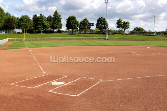 Softball Diamond Wallpaper Wall Murals