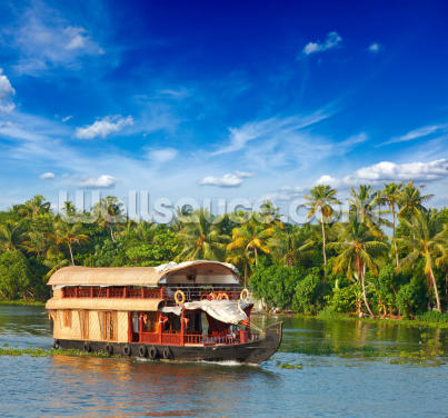Kerala Houseboat Wallpaper Wall Murals