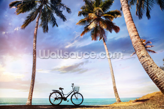 Beach Bicycle Wallpaper Wall Murals