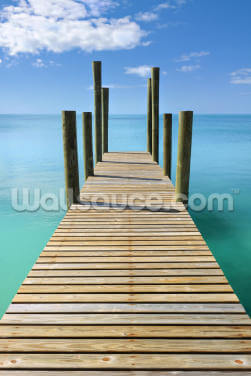 Governors Harbour Wooden Jetty Wallpaper Wall Murals