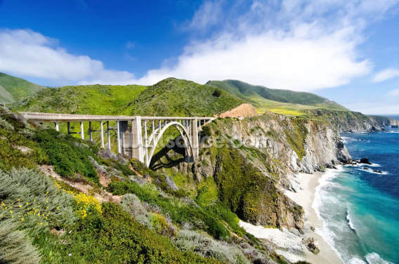 Highway One Bixby Bridge Wallpaper Wall Murals