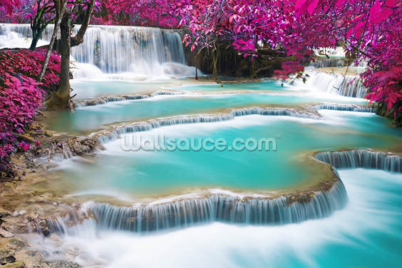 Kuang Si Waterfall Wallpaper Wall Murals