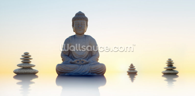 Buddha Panoramic Wallpaper Wall Murals