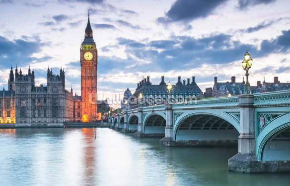 London Westminster at Dusk Wallpaper Wall Murals