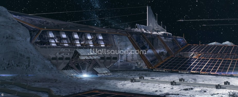 PO Lunar base Wallpaper Wall Murals