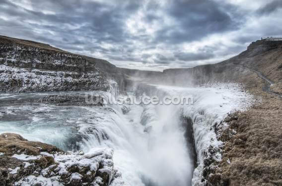 Gulfoss waterfall, Iceland Wallpaper Wall Murals