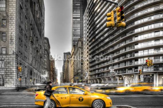 New York City cabs Wallpaper Wall Murals