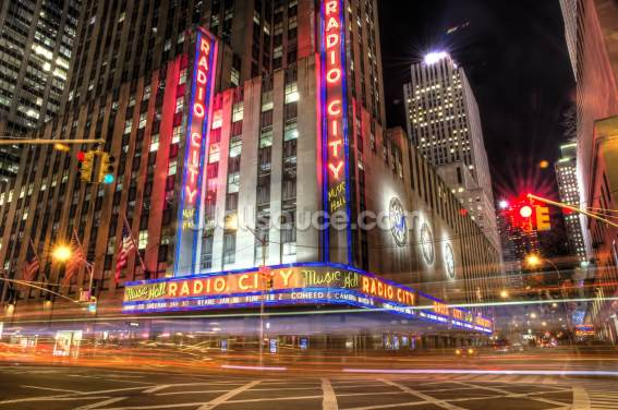 Radio City, New York Wallpaper Wall Murals