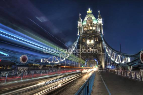 Tower Bridge Traffic Wallpaper Wall Murals
