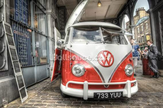 VW Coffee Van Wallpaper Wall Murals