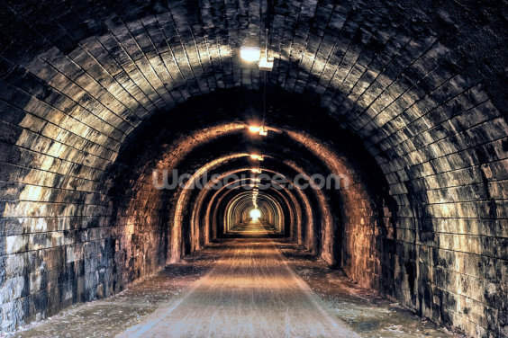 Light at the End of the Tunnel Wallpaper Wall Murals