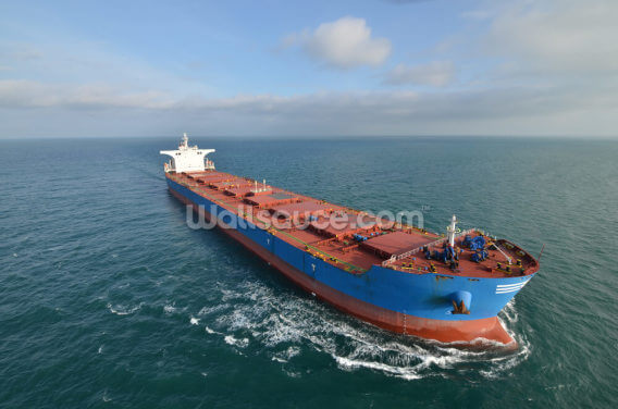 Giant Cargo Ship Wallpaper Wall Murals