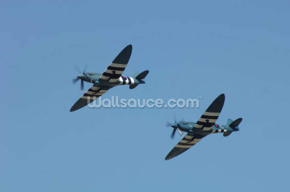 Spitfires in Flight Wallpaper Wall Murals