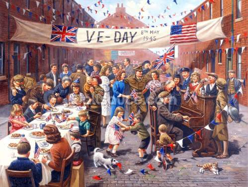 VE Day Celebration Wallpaper Wall Murals