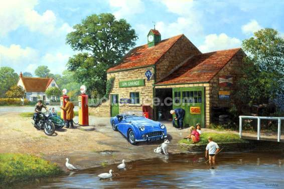 The Village Pumps Wallpaper Wall Murals