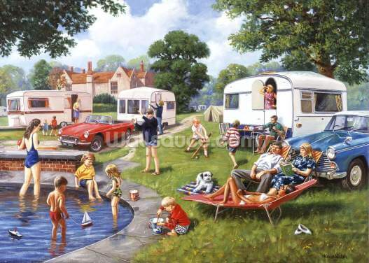 Caravan Holidays Wallpaper Wall Murals