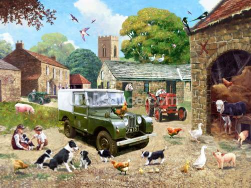 Down on the Farm Wallpaper Wall Murals