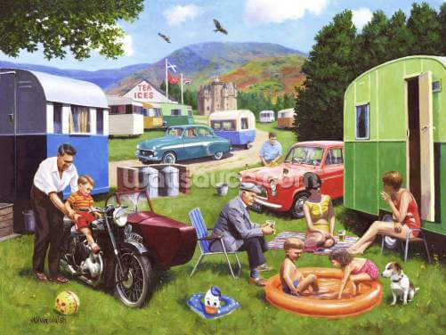 Caravanning in the Highlands Wallpaper Wall Murals
