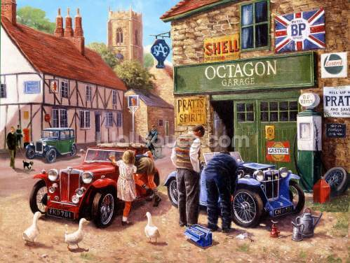 The Village Garage by Kevin Walsh Wallpaper Wall Murals